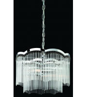 Firstlight Opera 2 Light Ceiling Pendant with FinishClear Glass Rods (Polished Chrome)