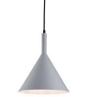 Firstlight 3717GR Everest 1 Light Ceiling Pendant In Grey With White Inside