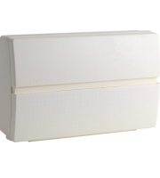 Hager 10 Way 1 Switch 2 X 63A RCD Split Load Insulated Enclosure (White)