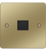 Hager Master Telephone Socket (Polished Brass/Black)