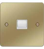 Hager Master Telephone Socket (Polished Brass/White)