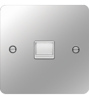 Hager Secondary Telephone Socket (Polished Steel/White)