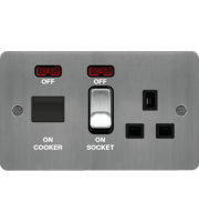 Hager CCU LED Indicator (Brushed Steel/Black)