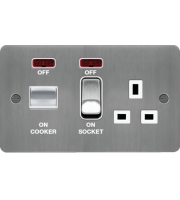 Hager CCU LED Indicator (Brushed Steel/White)