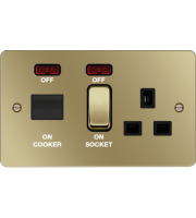 Hager CCU LED Indicator (Polished Brass/Black)