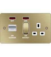 Hager CCU LED Indicator (Polished Brass/White)