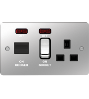 Hager CCU LED Indicator (Polished Steel/Black)