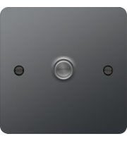 Hager 1 Gang Dimmer (Black Nickel)