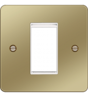 Hager ER Style Plate 1 Module (Polished Brass/White)