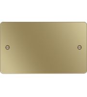 Hager Twin Blank Plate (Polished Brass)