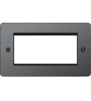 Hager ER Style Plate 4 Module (Black Nickel)