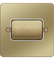 Hager 10AX 1 Gang 2 Way Wall Switch Wide Rocker (Polished Brass/White)