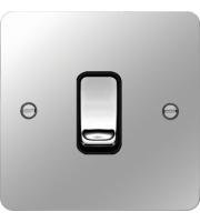 Hager Intermediate Switch (Polished Steel/Black)