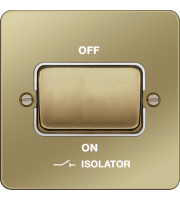 Hager 3 Pole Isolator Switch (Polished Brass/White)