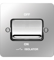 Hager 1 Pole Isolator Switch (Polished Steel/Black)
