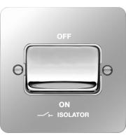 Hager 3 Pole Isolator Switch (Polished Steel/White)