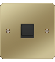Hager RJ45 Socket (Polished Brass/Black)