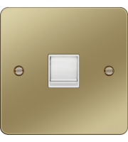 Hager RJ45 Socket (Polished Brass/White)