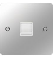 Hager RJ45 Socket (Polished Steel/White)