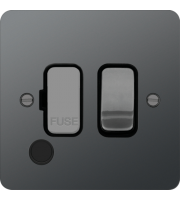 Hager Fused Connection Unit Switch Flex Outlet (Black Nickel)