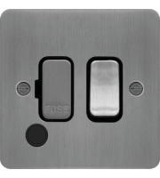 Hager Fused Connection Unit Switch Flex Outlet (Brushed Steel)