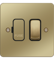Hager Switched Fused Connection Unit (Polished Brass)