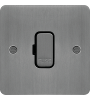 Hager Unswitched Fused Connection Unit (Brushed Steel)