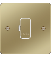 Hager Unswitched Fused Connection Unit (Polished Brass)