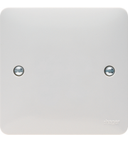 Hager Single Blank Plate (White)