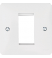 Hager Euro Style Accomodation Plate 1 Module (White)