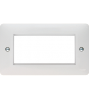 Hager Euro Style Acoomodation Plate 4 Module (White)