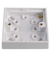 Hager 1 Gang Surfaxce Mounting Box 20mm (White)