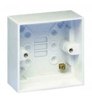 Hager Single 46mm Deep Moulded Box (White)