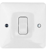 Hager Push Switch (White)