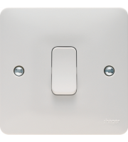 Hager 1 Gang Intermediate Switch (White)