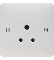 Hager 5A 1 Gang Unswitched Socket (White)