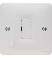 Hager 13A Unswitched FCU with Flex Outlet (White)