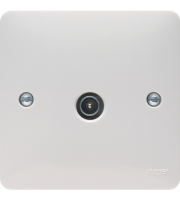 Hager Single Male TV/FM Co-Axial Socket (White)