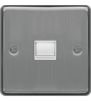 Hager Master Telephone Socket (Brushed Steel)