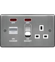 Hager CCU LED Indicator (Brushed Steel)