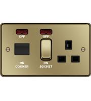 Hager CCU LED Indicator (Polished Brass)