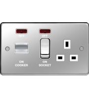 Hager CCU LED Indicator (Polished Steel)