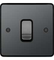 Hager 20A Double Pole Switch (Black Nickel)