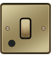 Hager 20A Double Pole Switch Flex Outlet (Polished Brass)