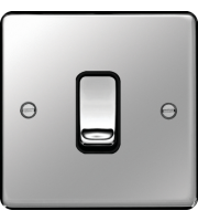 Hager 20A Double Pole Switch (Polished Steel)