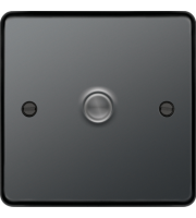 Hager 1 Gang Dimmer Switch (Black Nickel)