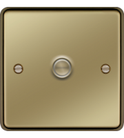 Hager 1 Gang Dimmer Switch (Polished Brass)