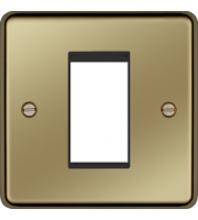 Hager ER Style Plate 1 Module (Polished Brass)