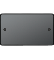 Hager Twin Blank Plate (Black Nickel)