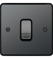 Hager Intermediate Switch (Black Nickel)